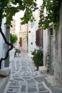 Yria Island Hotel & Spa guests can explore winding cobbled streets in the towns & villages of Paros