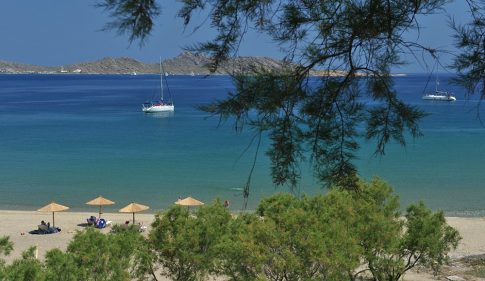 Paros beach & coast. Yria Hotel guests can enjoy private boat cruise experiences around the island.