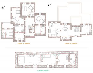 Room plan for the luxury Ktima private pool family villa rental at Yria Island Hotel & Spa in Paros