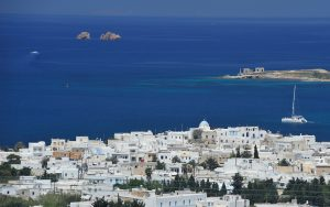 Naoussa village in northern Paros. The island was once visited by the author Truman Capote.