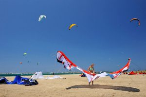 Yria Island Boutique Hotel & Spa guests can enjoy activities like kite surfing on beaches in Paros