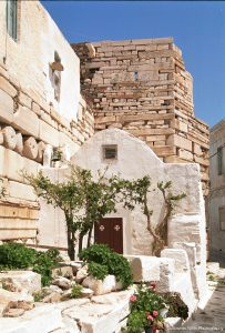 The mediaeval Kastro Hill in Parikia is a top attraction in Paros for Yria Boutique Hotel guests